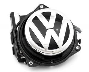 Volkswagen Genuine Flip Badge Static Rear View AV Composite Reverse Camera - Fits VW MK5, MK6, Polo 6R, Polo 6C, Passat B7 & B8, T-Roc