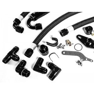 IE 2.0T FSI Catch Can Kit For IE Billet Valve Cover | Fits MK5, MK6 Golf R, Mk2 TTS