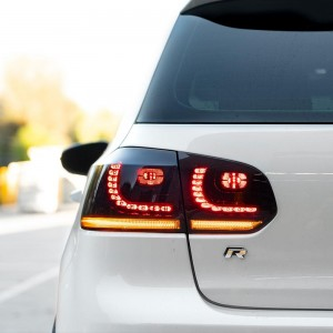 VW Golf Mk6 Sequential LED Tail Lights - Limited Edition Midnight Red - V5.2 - 2021 Release