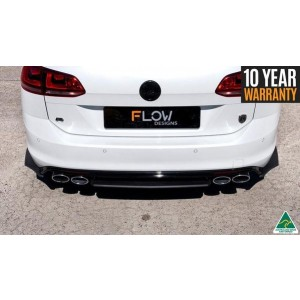 Flow Designs - MK7 Golf R Wagon Rear Aero Valance & Pods/Spats