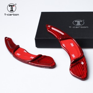100% Carbon Fiber SE7EN Paddle Shifters - Red