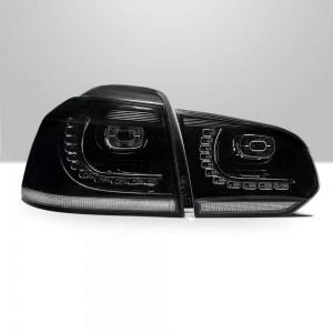 Supernova - VW Golf Mk6 Midnight Black Sequential LED Tail Lights V5.2 2021 Release | Fits MK6 (2009-2013)
