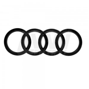Genuine Audi 4 Rings Badge Set (PAIR) - Front 8T0 853 605 T94 & Rear 8V4 853 742 T94 -  Gloss Black