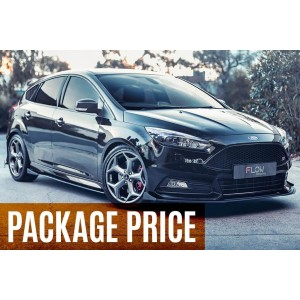 Flow Designs - Ford MK3.5 Focus ST (Facelift) Splitter Set - Option 1