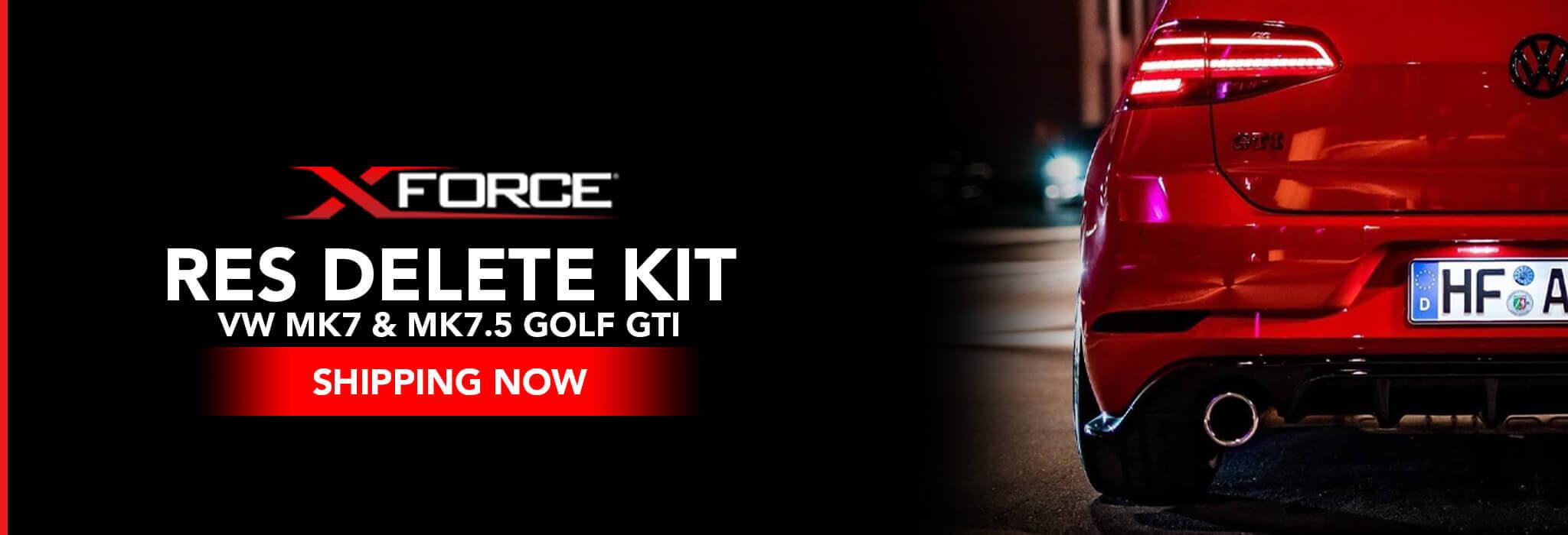 XFORCE Resonator Delete Kit - VW MK7/MK7.5 GOLF GTI